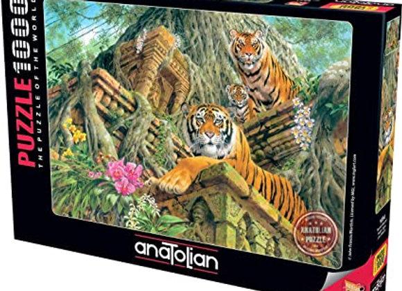 1000 Piece Puzzle - Temple Tigers