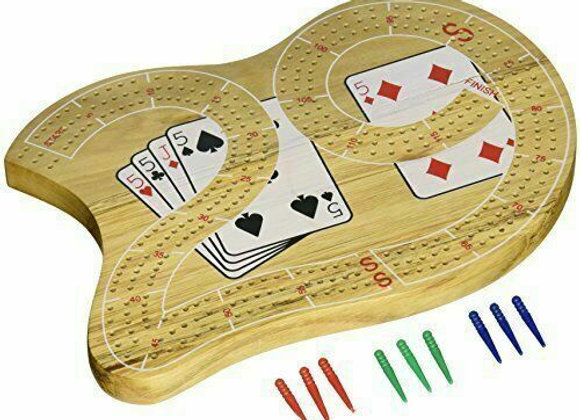 "CHH 29"" Large Cribbage Board With 3 Tracks"