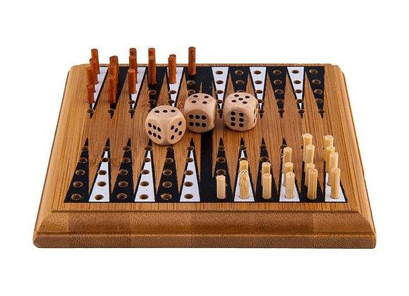 Mini Backgammon - Bamboo Game
