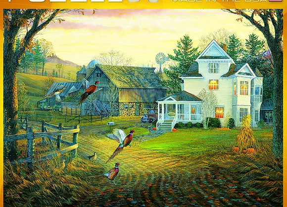 1000 Piece Puzzle - Country Crossing Pheasants