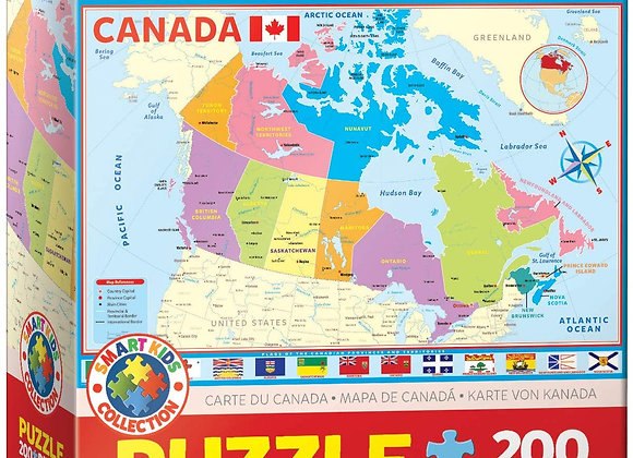 200 Piece Puzzle - Map Of Canada