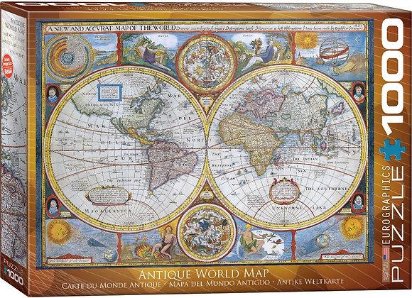 1000 Piece Puzzle  - Antique World Map