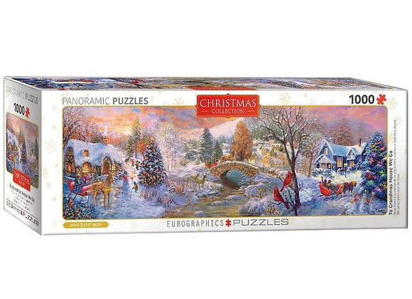 1000 Piece Panoramic Puzzle - To Grandma's House We Go