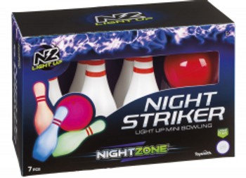 Night Striker Light Up Mini Bowling