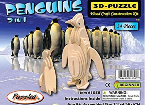 3D Puzzle Penguins - Beginner