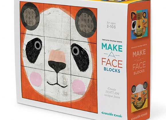 Crocodile Creek Make A Face Mix & Match Block Puzzle