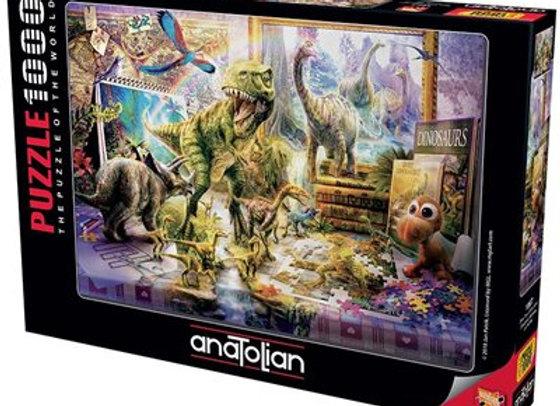 1000 Piece Puzzle - Dino Toys Come Alive
