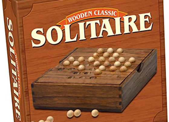 Tactic Solitaire in Handy Wooden Box Board Game