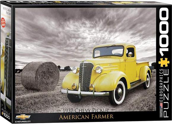 1000 Piece Puzzle - 1937 Chev Pickup - American Farmer