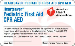 HeartSaver Pediatric CPR & First Aid Certification eCard(s)