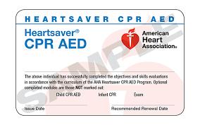 HeartSaver CPR Certification eCard(s)