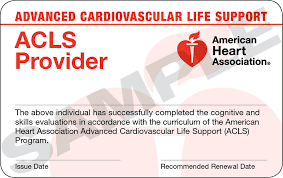 ACLS Certification eCard(s)