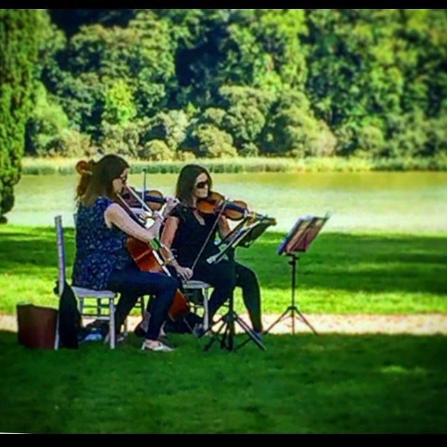 D-String trio @Castle Leslie outdoor ceremony