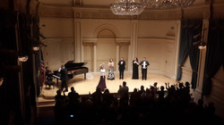 bows at Carnegie Hall