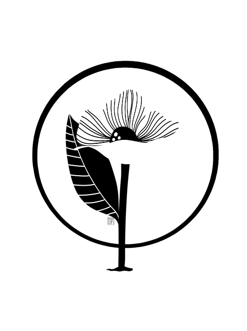 Download - Flower, grafic style, black and white