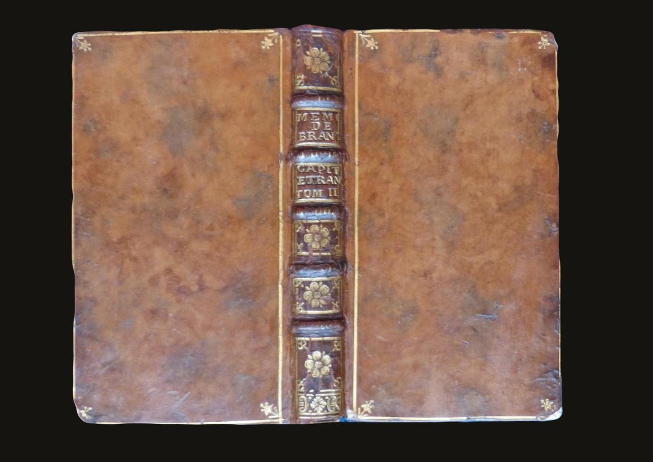 Mémoires de Brantôme; 1739 Entretien de conservation de la reliure cuir