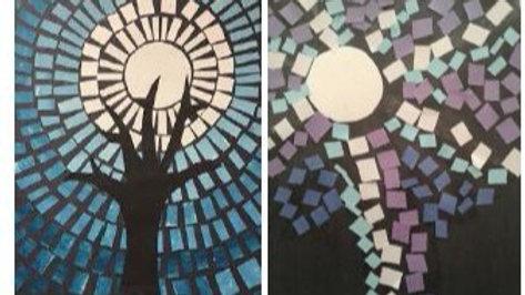 Virtual Art Class -(ages 2-8) Winter Trees - 3/17/21 (KIDZV-031721)