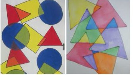 Virtual Art Class -(ages 2-8) Abstract Shapes - 3/31/21 (KIDZV-033121)