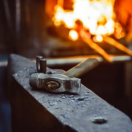 Copper Leaf Bowl or Spoon Rest: Blacksmithing Class - AM (BLK-091921-AM)