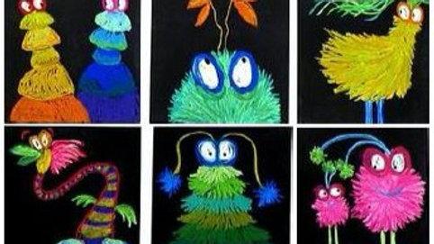 Virtual Art Class - (ages 2-8) Dr. Seuss Creatures - 3/3/21 (KIDZV-030321)