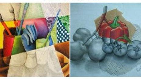 Virtual Art Class - (ages 7-14) Mixed Media Design - 4/7/21 (KIDZV-040721)