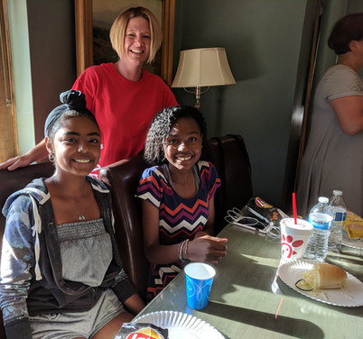 Aimee with sisters Rochelle (a sophomore) and Danielle (a freshman)