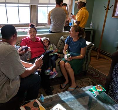 Mentor Dina with Anastasia's family