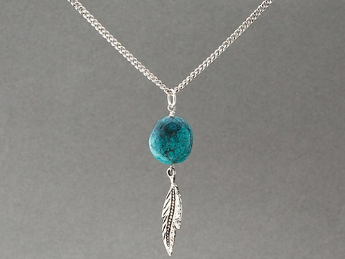 Victory Necklace-Silver/Blue