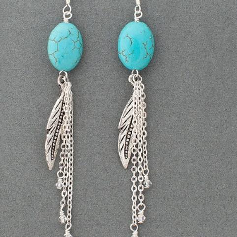 Victory Earrings-Silver/Blue