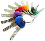 assorted colours of keys