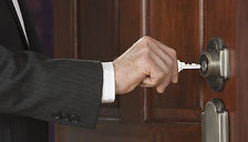 open the door with a key