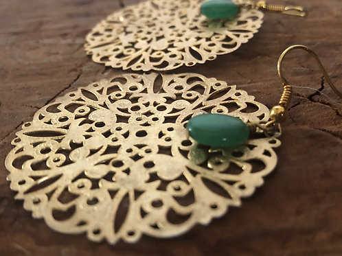 Golden Lace Earrings