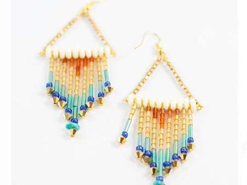 Golden Rain Earrings