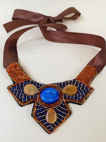 Sapphire Lion Heart Necklace