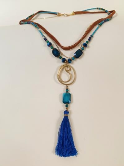 Bold Azure Necklace