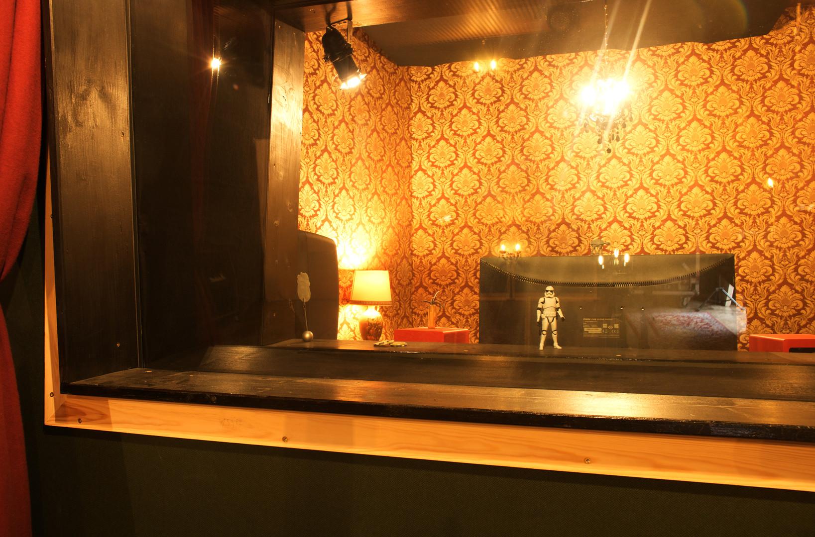 Blick aus dem Aufnahmeraum
