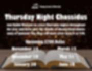 thursady night chassidus upcoming dates