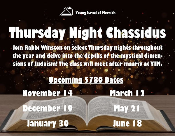 thursady night chassidus upcoming dates