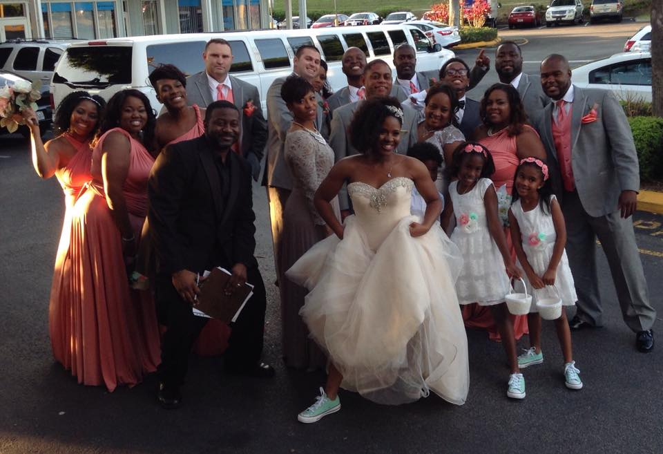DJ Al and the Brown wedding party