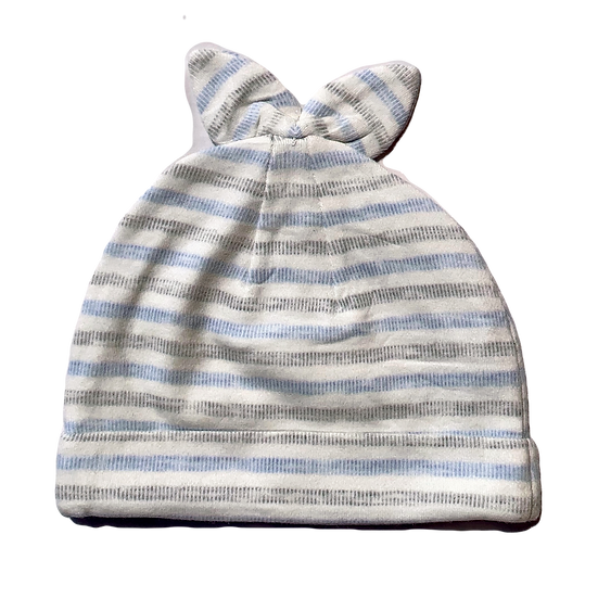 Blue/White and Grey striped Beanie