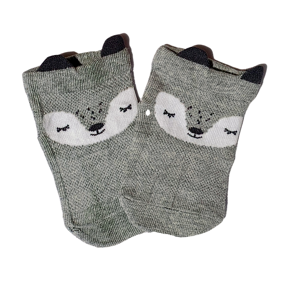 Grey Racoon socks