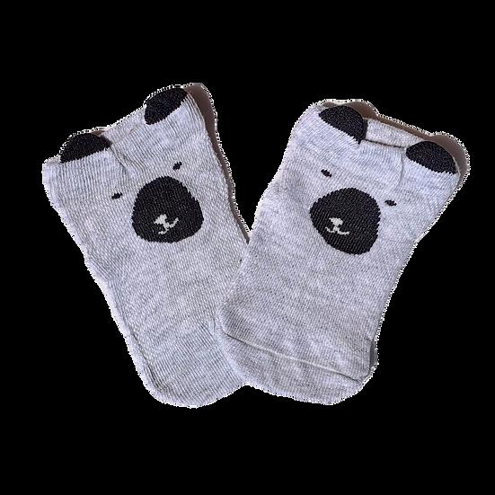Light Grey Bear socks