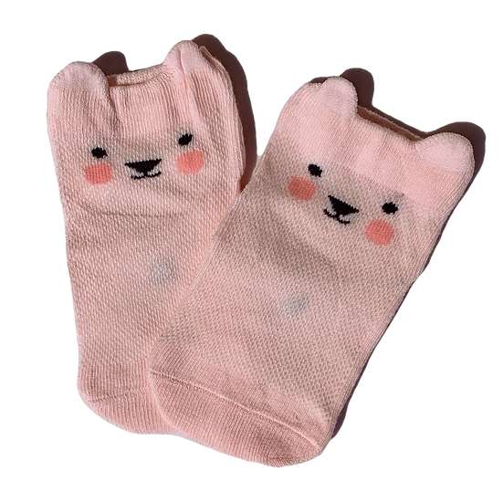 Light Pink Bear socks