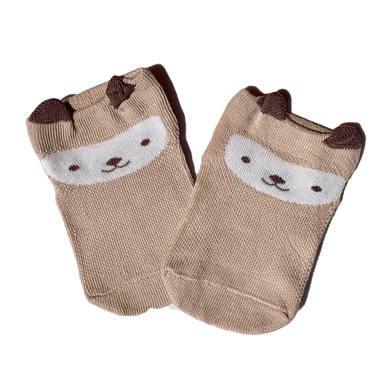 Beige Bear socks