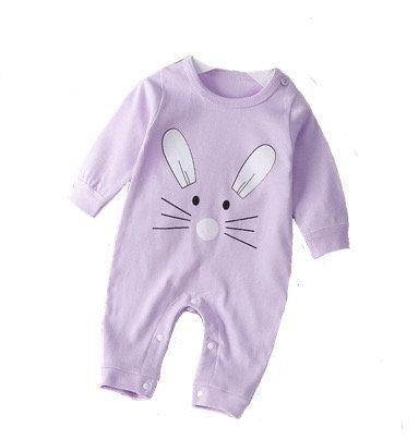 Purple bunny babygrow