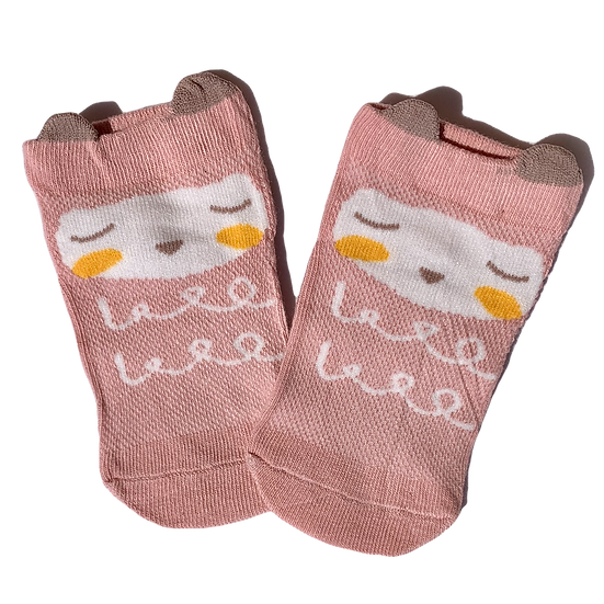 Dark Pink Sheep socks