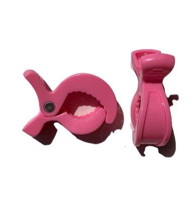 Pink Pram Clips (2 pack)