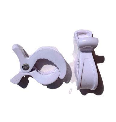 White Pram Clips (2 pack)