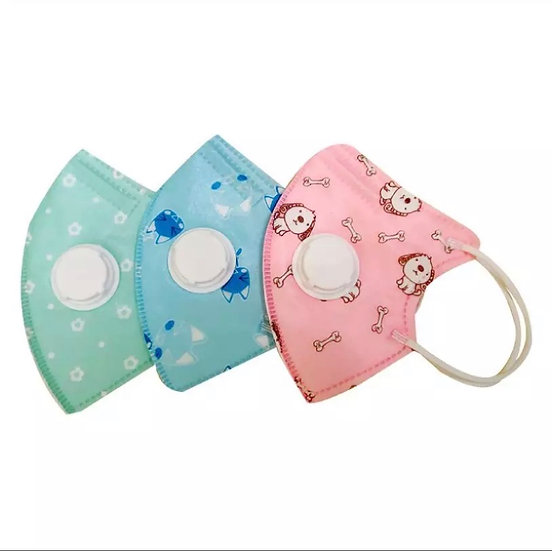 5 ply reusable fask mask with valve (10 pack)