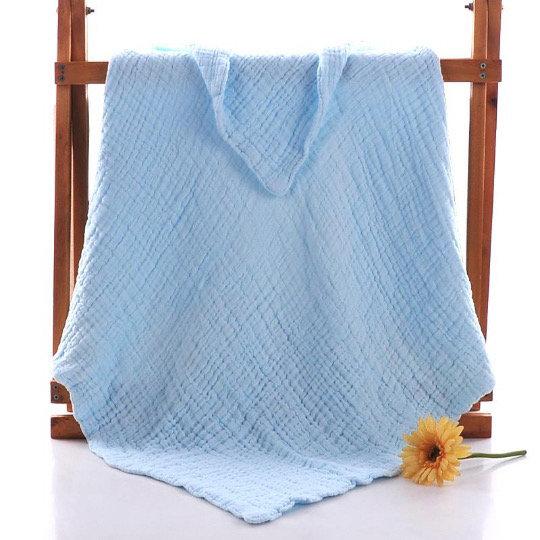 Muslin 6 layer Blue blanket